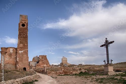 Belchite destruido por los bombardeos de la guerra civil de España