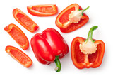 Red Peppers Isolated on White Background - 167095792