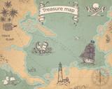 Ancient treasure map - 167097191