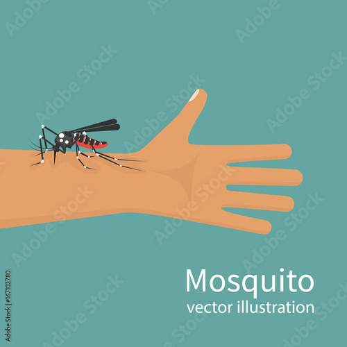 mosquito bite on skin hand human insect bites man in arm template