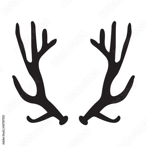 Aluminium Hipster Hert black silhouette of deer antlers- vector illustration