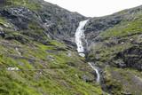 Switchback road Trollstigen in Norway