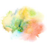 Abstract watercolor splash background. - 167117569
