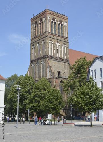 Turm der Nikolai-Kirche in Anklam Poster