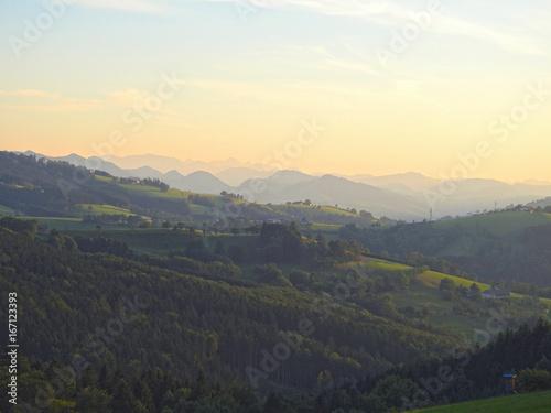 Staande foto Beige Bergpanorama Hochkogel