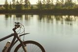 Rower na brzegu jeziora