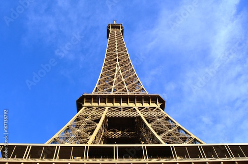 Great view from the base of the Eiffel Tower, Paris