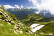 Panoramic view of mount Chugush (Western Caucasus)