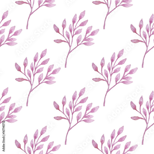 Watercolor floral pattern - 167140712