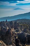 Widok Mount Meru z trasy Kilimanjaro Machame