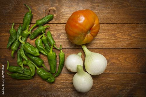 Deurstickers Hot chili peppers hortalizas