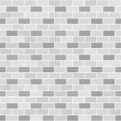 Gray brick wall pattern. Seamless vector brick background © Olga