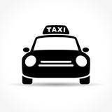 taxi icon on white background - 167181591