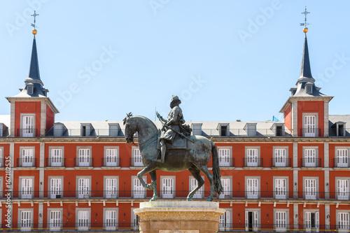 Madrid plaza mayor views, spain