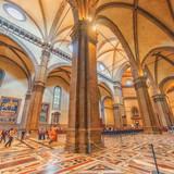 FLORENCE, ITALY- MAY 14, 2017: Inside, interior of  Santa Maria del Fiore(Cattedrale di Santa Maria del Fiore). Italy. - 167183980