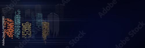 Fototapeta City scene on night time