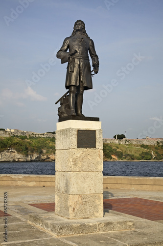 Monument to Pierre Le Moyne in Havana. Cuba