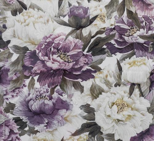 Fototapeta Abstract flower pattern, ceramic tile