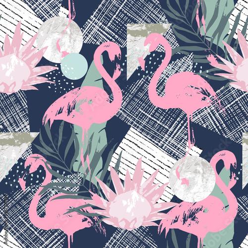 streszczenie-wydruku-z-elementami-flamingo-i-losowymi-szwu-w-stylu-retro-ilustracja-wektorowa-tropikalnych