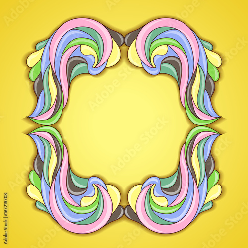 Abstract colorful frame.