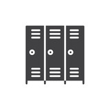 Lockers icon vector, filled flat sign, solid pictogram isolated on white. Symbol, logo illustration. Pixel perfect vector graphics - 167227116