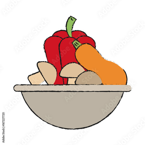Foto op Aluminium Uilen cartoon Colorful doodle over white background vector illustration