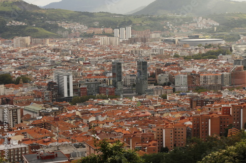 Foto op Aluminium Diepbruine Bilbao