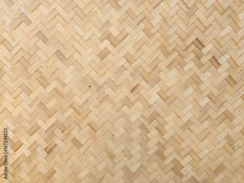 Wall made of bamboo,/Home built of natural structure. Background and wallpaper./Floors and walls made of bamboo by villagers in Thailand.