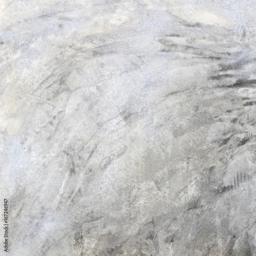 Poster Betonbehang Grey concrete loft style wall background.Polished cement wall.