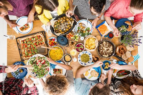 Bulgur groats during veggie dinner