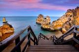 Zachód słońca Algarve Portugalia