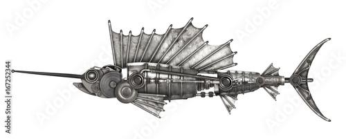 Steampunk style sailfish