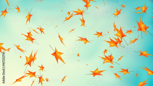 Autumn leaves, happy thanksgiving greeting fall