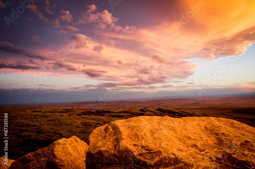 Foto op Plexiglas Bruin Mountain View Sunset