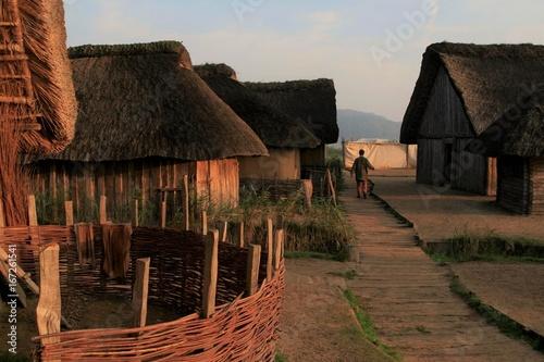 Wikingersiedlung Haithabu, rekonstruierte Wikungerhäuder Poster