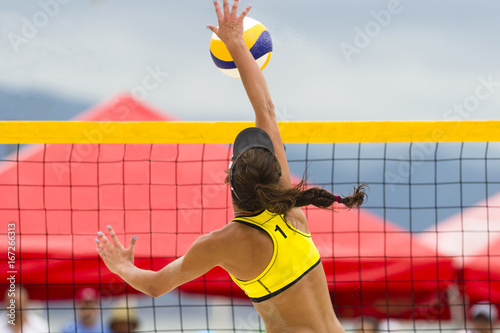 Fototapeta Volleyball Beach Player