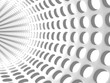 Abstract White Tunnel Dots Background