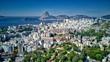 Quadro Rio de Janeiro Downtown City and Ocean View