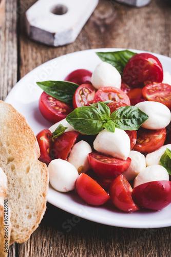 Traditional caprese salad Poster