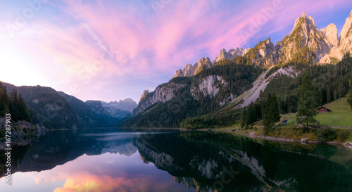 Tuinposter Ochtendgloren Sunrise in Alps