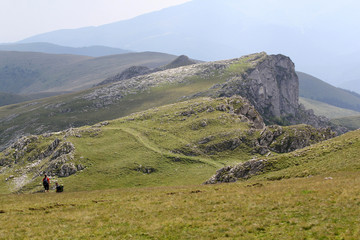 Landscape from Bucegi Mountains, part of Southern Carpathians in Romania