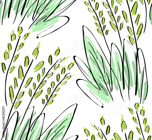 Rough sketched grass on white © Zebra Finch