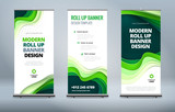 Fototapety Business Roll Up Banner stand. Presentation concept. Abstract modern roll up background. Vertical template billboard, banner stand or flag design layout. Poster for conference, forum, shop