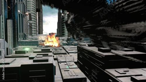 Poster Sci Fi City & Ships II
