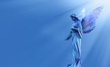 Beautiful angel in heaven panoramic view - 167303526