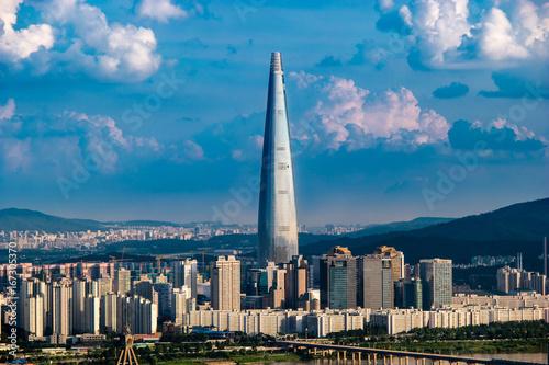 Foto op Plexiglas Seoel South Korea. Seoul City and skyline with skyscrapers.