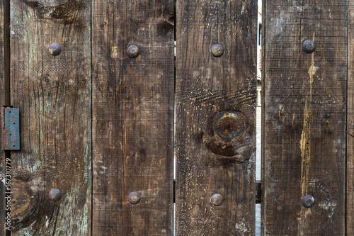 Fotobehang Koffiebonen Puerta antigüa de madera con textura
