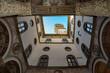 Quadro Florence Piazza della Signoria Tower Detail from interior