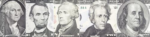 American presidents set  portrait on dollar bill  closeup Poster