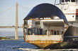 Norwegian ferry detail in Stavanger city. Norway transportation